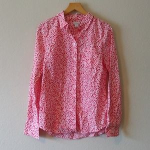 J crew floral shirt with tags